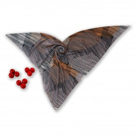 روسری طرح دار مدل دل آرا