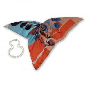 روسری طرح دار مدل پرستو
